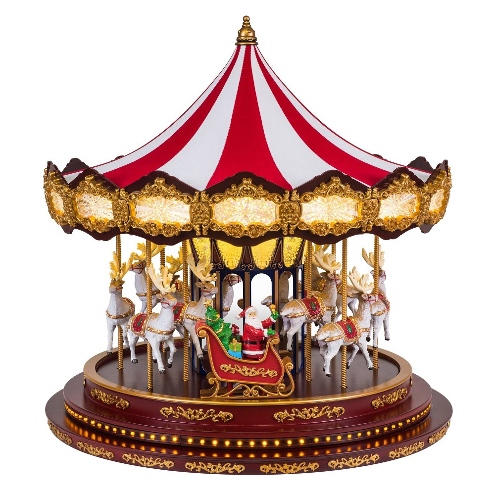 Image of Deluxe Christmas Carousel Decorative Figurine - Mr. Christmas