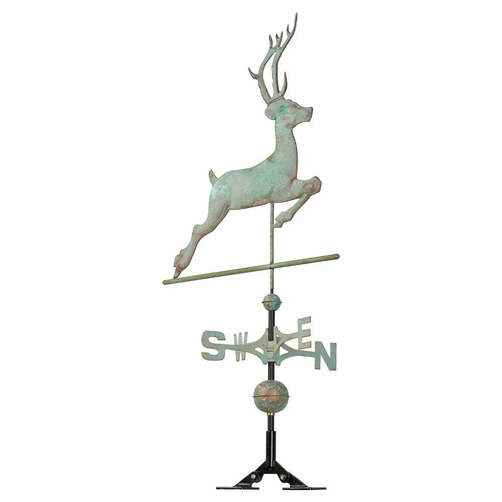 "Image of ""26"""" Deer Weathervane - Copper Verdigris - Whitehall Products"""