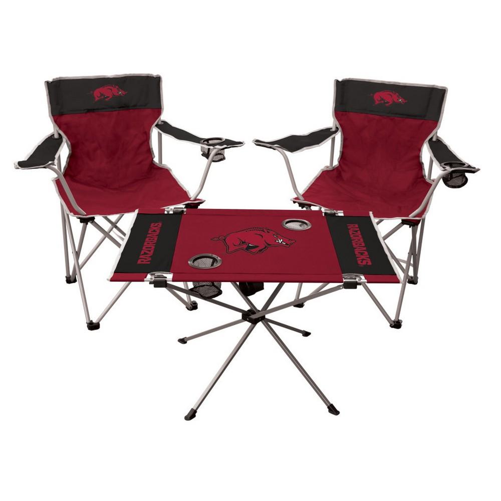 NCAA Rawlings Tailgate Kit - 2 Chairs and Endzone Table Arkansas Razorbacks
