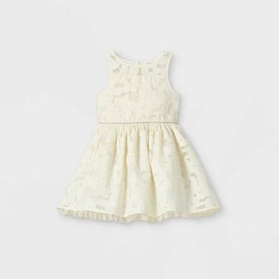 Mia & Mimi Toddler Girls' Floral Tulle Tank Dress - White