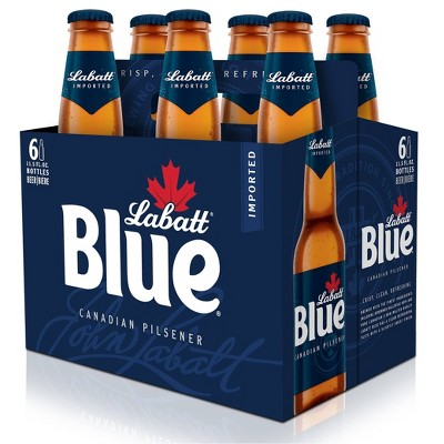 Labatt Blue Canadian Pilsener Beer - 6pk/12 fl oz Bottles