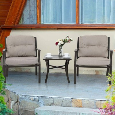 3pc Cushioned Chairs & Side Table - Captiva Designs