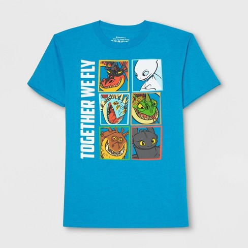 Boys' How to Train your Dragon Short Sleeve T-Shirt - Turquoise Heather - image 1 of 2