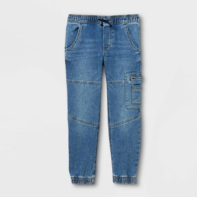 Boys' Super Stretch Utility Jogger Jeans - art class™ Light Blue