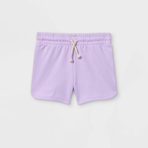 Girls Knit Pull On Shorts Cat Jack Light Purple XS