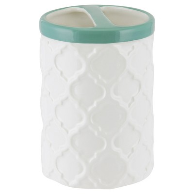 Watery Floral Toothbrush Holder Aqua - Allure®
