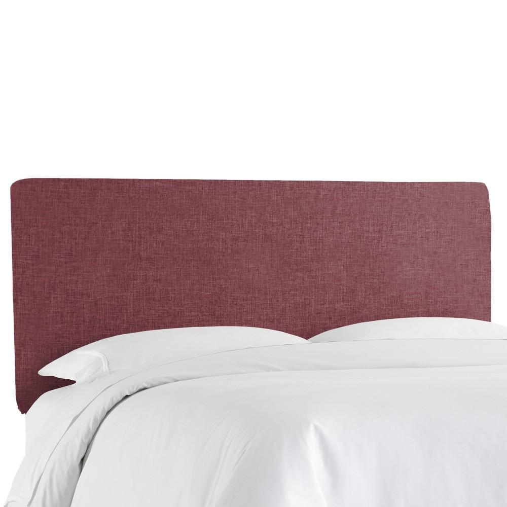 Queen Olivia Upholstered Headboard Wine Linen - Cloth & Co.