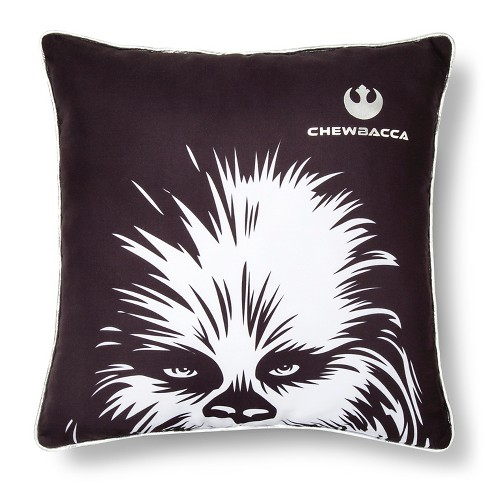 "Chewbaca Face Pillow (15""x15"") Black - Star Wars Rebels® - image 1 of 1"
