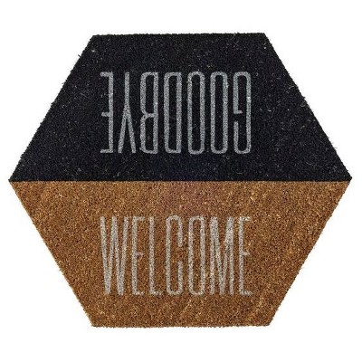 Coir Door Mat  Welcome/Goodbye  - 3R Studios
