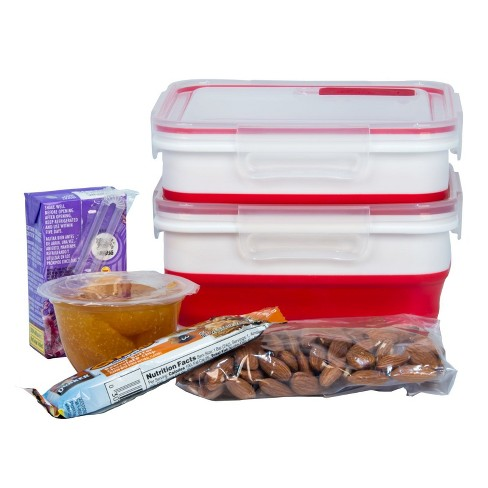 Igloo 2 Pack Expandable Lunch Box - Red
