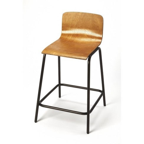 Caron Wood & Metal Counter Stool Brown - Butler Specialty - image 1 of 4