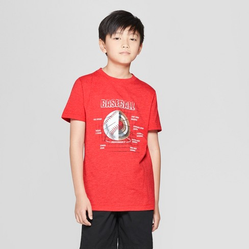 Boys' Baseball Short Sleeve Graphic T-Shirt - Cat & Jack™ Red - image 1 of 3