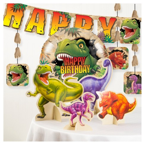 Dinosaur Birthday Party Decorations Kit Target