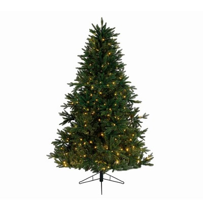 Kaemingk 9' Pre-Lit Artificial Christmas Tree Everlands Skandia Fir - Warm Clear LED Lights