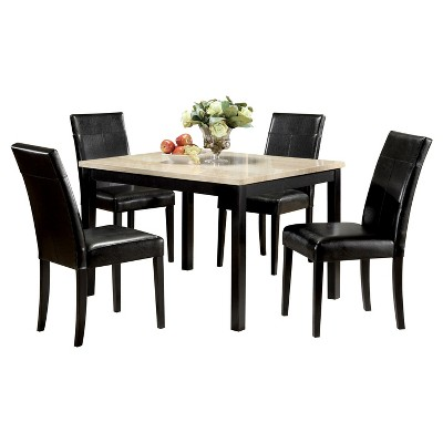 Acme Furniture Dining Table Set White Black
