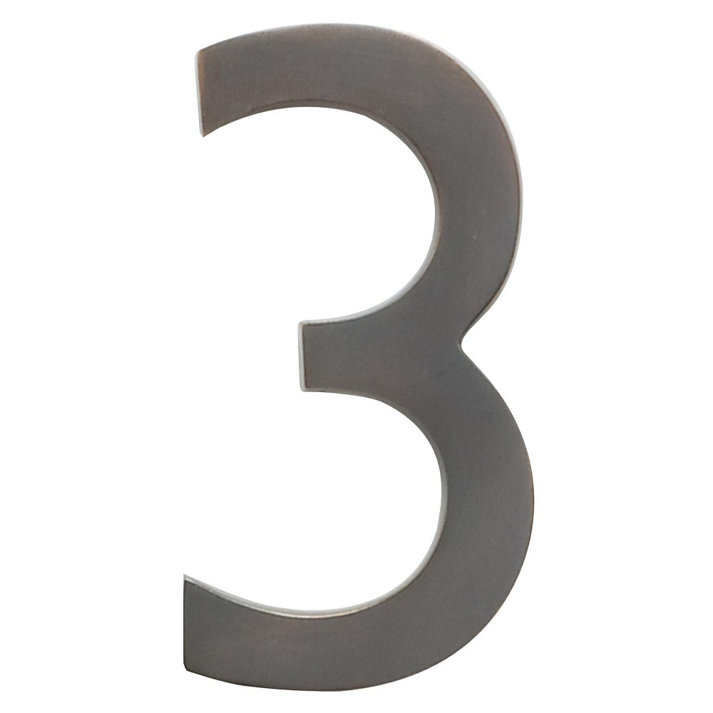 Architectural Mailbox 4 34 Cast Floating House Number 3 Dark Copper