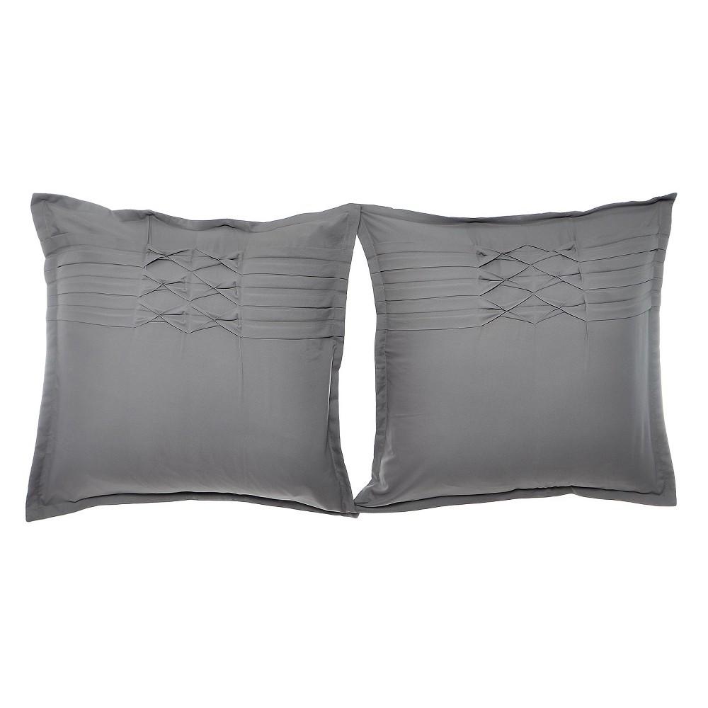 Image of Gray Pillow Sham (Euro) - City Scene