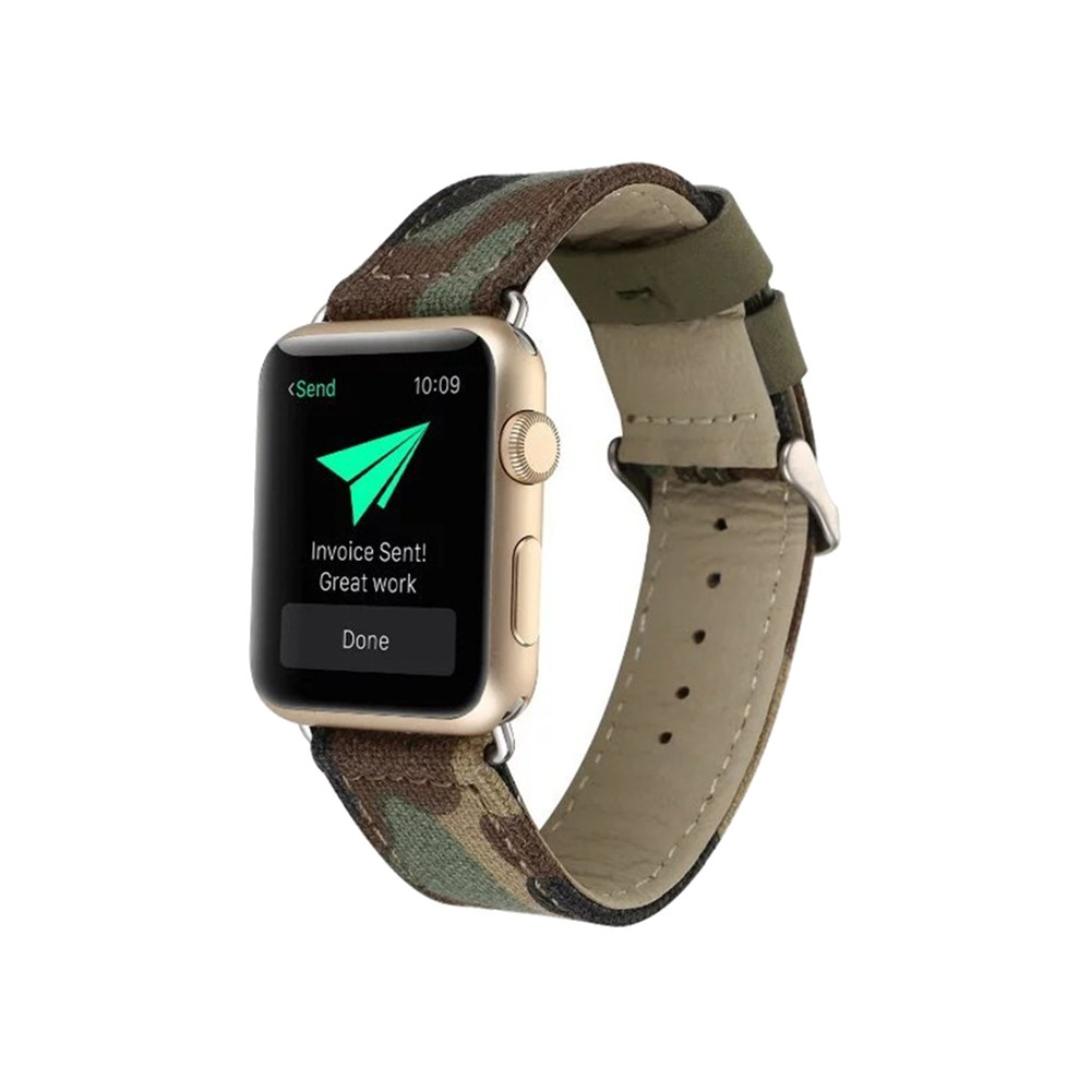 iPM Canvas Replacement Band for Apple Watch 38mm - Camouflage, Adult Unisex