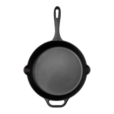 "Victoria Seasoned Cast Iron Skillet 12"" Black"