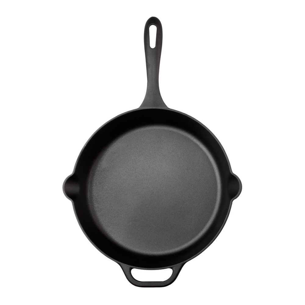 "Image of ""Victoria Seasoned Cast Iron Skillet 12"""" Black"""