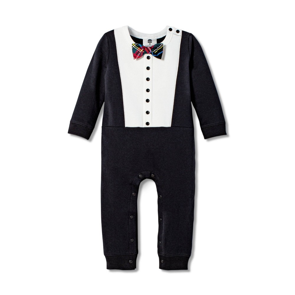 Image of Baby Boys' Long Sleeve Crewneck Tuxedo Bodysuit - Harajuku Mini for Target Black 9M, Men's