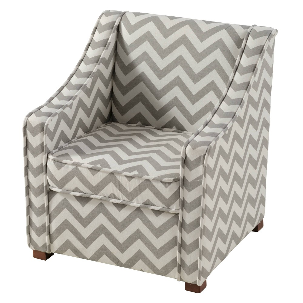 Image of Annie Upholstered Chair Gray - Linon