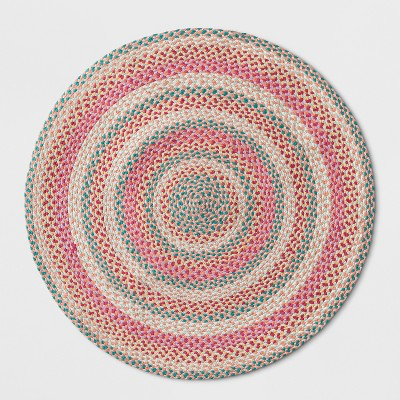 36 x36  Braided Circle Rug Pink - Pillowfort™