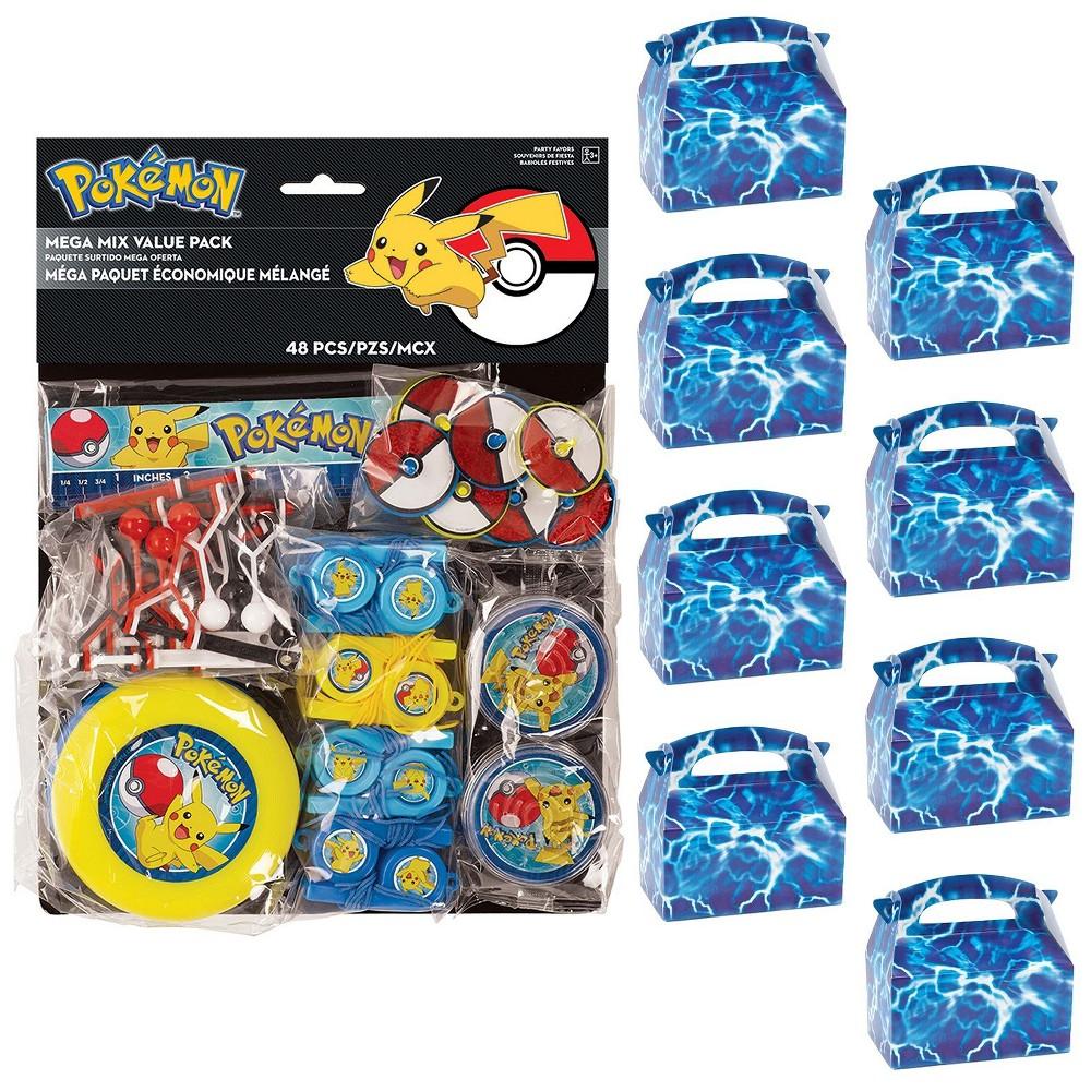 8ct Pokemon Favor Box Kit, Multi-Colored