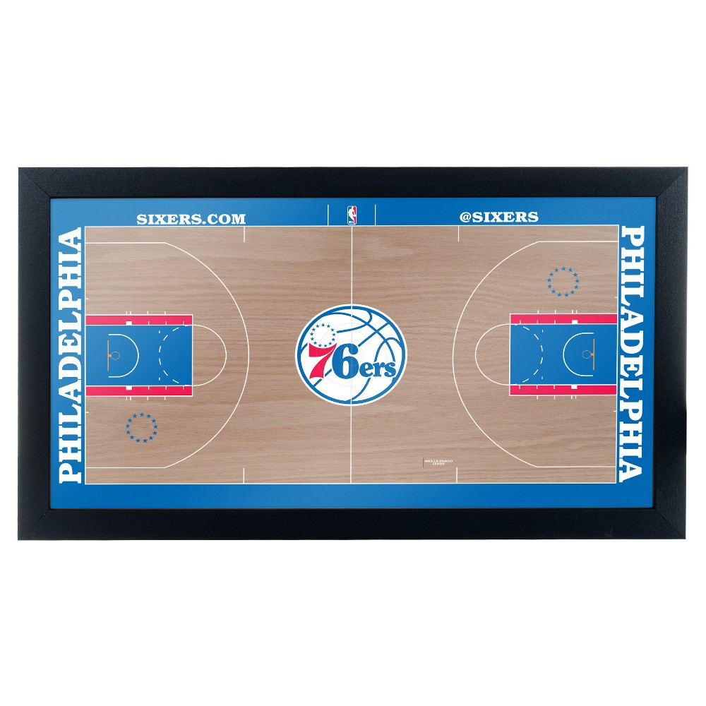 NBA Philadelphia 76ers Team Court Framed Plaque