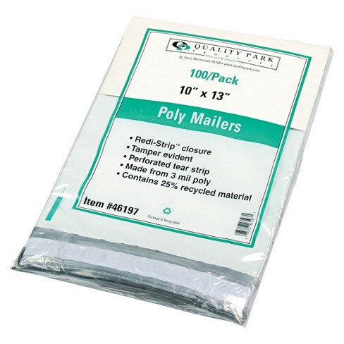 Quality Park Redi-Strip Poly Mailer, Side Seam - White (100 Per Box) - image 1 of 1