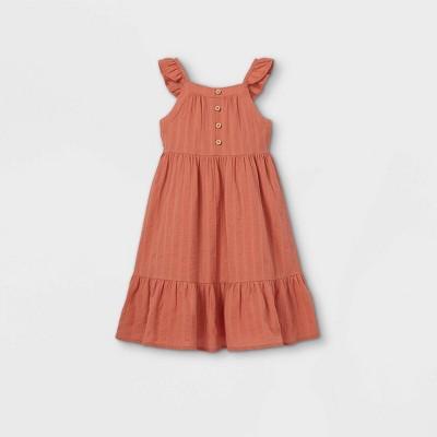 Toddler Girls' Midi Tank Dress - art class™ Rust Orange