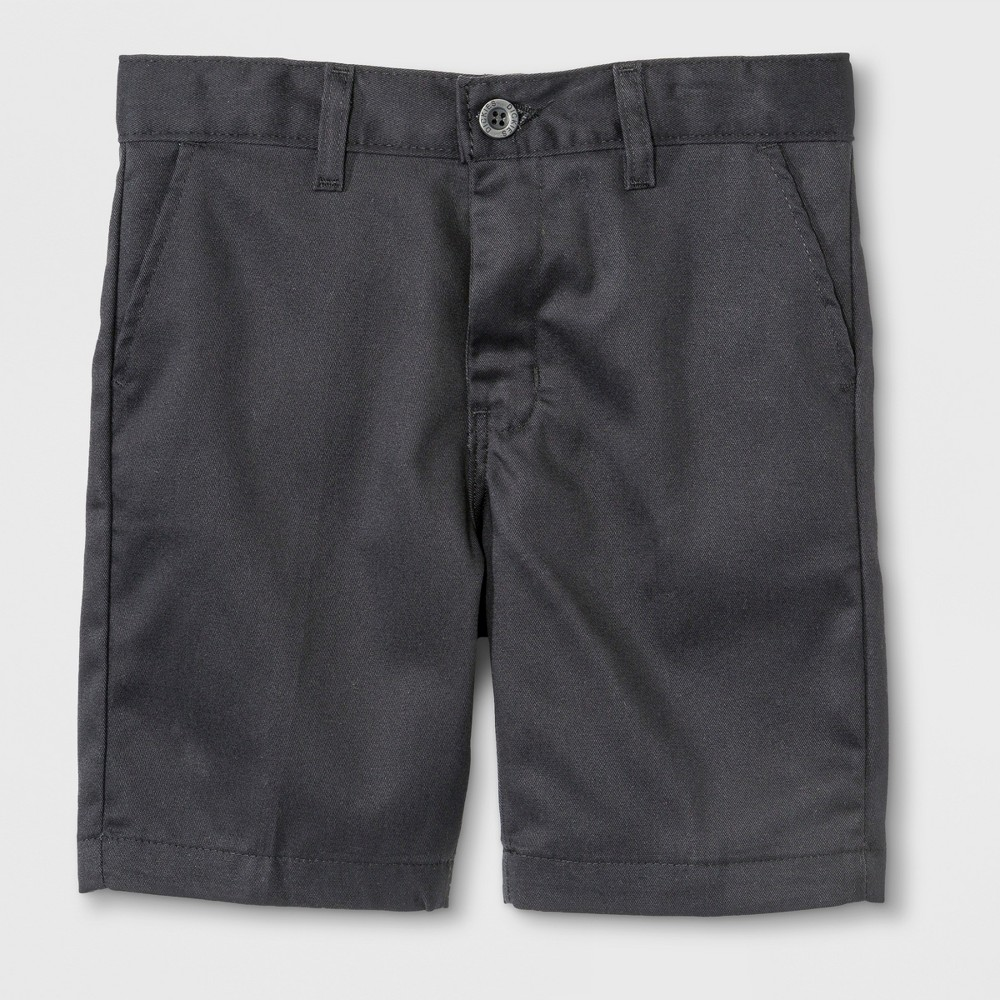 Image of Dickies Boys' Slim Fit Flat Front Shorts - Black 10, Boy's