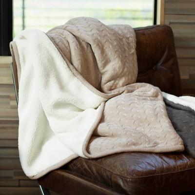 Viscose from Bamboo Sherpa Knit Throw Blanket - Cariloha