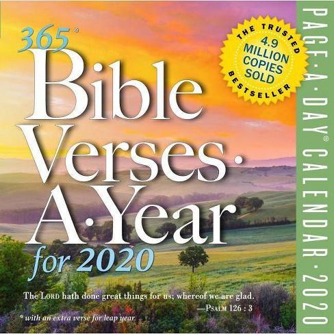 Biblical Calendar 2020 365 Bible Verses A Year Page A Day Calendar 2020 : Target