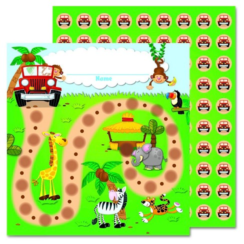 Carson-Dellosa Publishing Jungle Safari Mini Incentive Chart, 5 1/4w x 6h - image 1 of 1