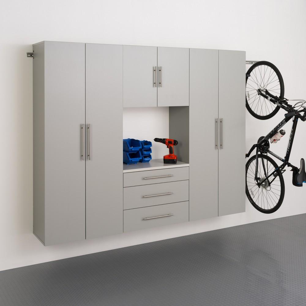 Hangups 90 Storage Cabinet Light Gray 4pc - Prepac
