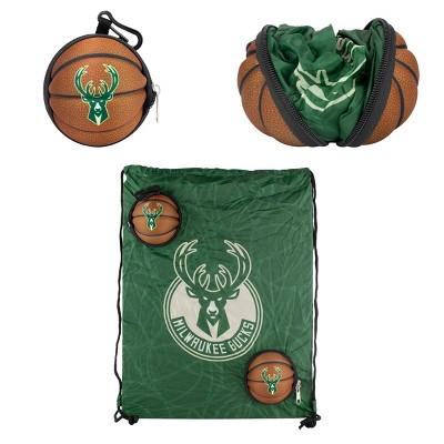 "NBA Milwaukee Bucks 9"" Drawstring Bag"