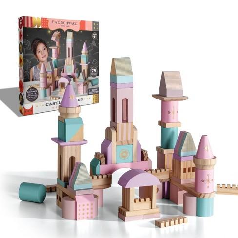 FAO Schwarz Castle Block Set- Pink, Purple, Glitter - 75pc - image 1 of 4