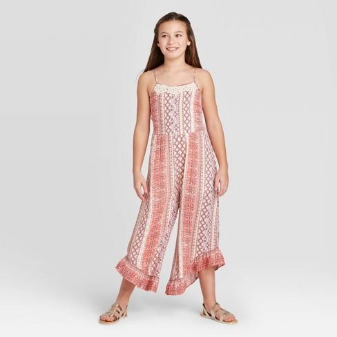Girls' Crochet Jumpsuit - art class™ - image 1 of 3