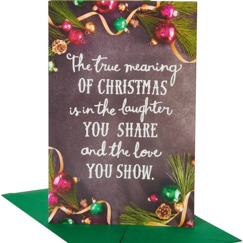 Christmas Greeting Images.True Meaning Christmas Greeting Card
