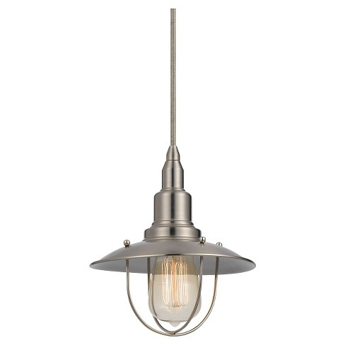 Cal Lighting Allentown Brushed Steel finish Metal Pendant - image 1 of 1