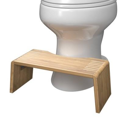 Folding Bamboo Oslo Toilet Stool Brown - Squatty Potty