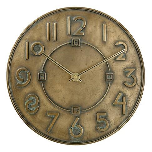 Bulova Clocks C3333 Frank Lloyd Wright Exhibition Round 12 Inch Diameter Hanging Wall Clock, Antique Bronze Finish - image 1 of 2