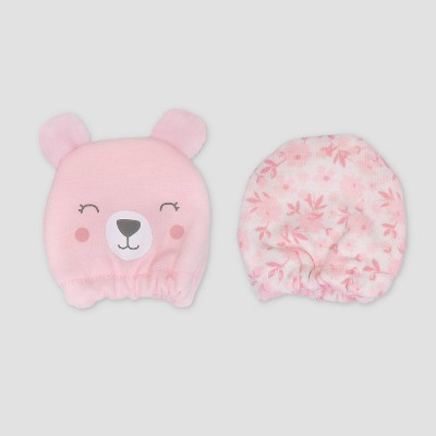 Baby Girls' 2pk Bear Mittens - Just One You® made by carter's Pink Newborn