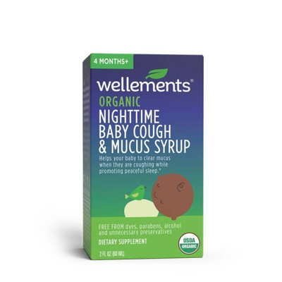 Wellements Organic Baby Nighttime Cough & Mucus Syrup - 2 fl oz
