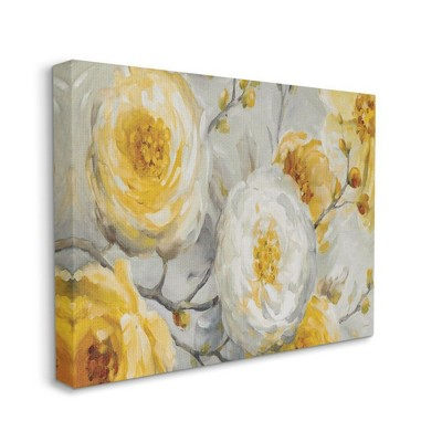 Stupell Industries Abstract Flower Blossoms Tree Yellow White Painting