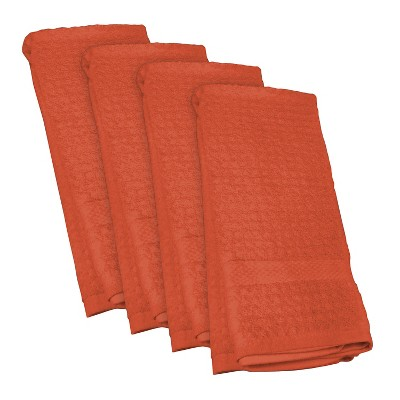 4pk Orange Dishtowel (18 x28 )- Design Imports