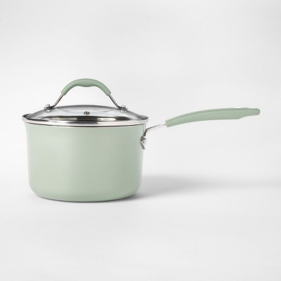 Cravings by Chrissy Teigen 3.5qt Aluminum Saucepan with Lid Green