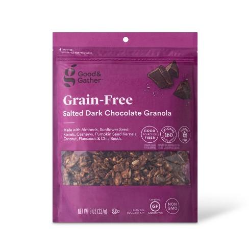Salted Dark Chocolate Grain Free Granola - 8oz - Good & Gather™ - image 1 of 2