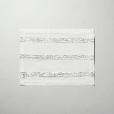 Textured Rib Stripe Placemat Black/Sour Cream - Hearth & Hand™ with Magnolia